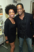 May 7, 2012- New York, NY United States: - (L-R) Actress Markita Prescott and Actor Blair Underwood attend the post reception of Theater Talks at the Schomburg: A Streetcar Named Desire held at the Schomburg Center for Research in Black Culture, part of the New York Public Library on May 7, 2012 in Harlem Village, New York City. The Schomburg Center for Research in Black Culture, a research unit of The New York Public Library, is generally recognized as one of the leading institutions of its kind in the world. For over 80 years the Center has collected, preserved, and provided access to materials documenting black life, and promoted the study and interpretation of the history and culture of peoples of African descent. (Photo by Terrence Jennings) .