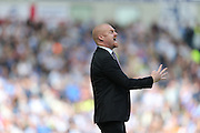 Burnley manager Sean Dyche during the Sky Bet Championship match between Brighton and Hove Albion and Burnley at the American Express Community Stadium, Brighton and Hove, England on 2 April 2016.