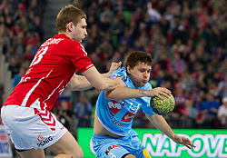 Marko Bezjak of Slovenia during handball match between National teams of Slovenia and Poland of Qualification Group 3 for Men's EURO 2012, on March 9, 2011 in Arena Stozice, Ljubljana, Slovenia. Slovenia defeated Poland 30-28. (Photo By Vid Ponikvar / Sportida.com)