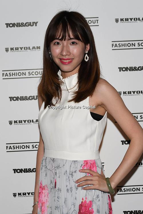 Min Xiao attend Fashion Scout - SS19 - London Fashion Week - Day 2, London, UK. 15 September 2018.