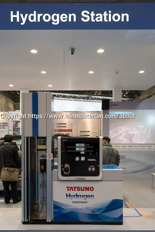 Hydrogen filling station display at Tokyo Motor Show 2013 in Japan