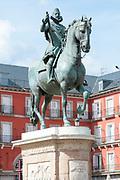 Equestrian statue of King Philip III, Plaza Mayor, Madrid, Spain