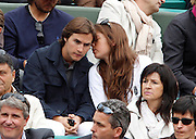 27.MAY.2011. FRANCE<br /> <br /> ANOUCHKA DELON AND SON AMI JULIEN DEREIMS AT THE TENNIS FRENCH OPEN 2011 AT ROLAND GARROS IN FRANCE.<br /> <br /> BYLINE: EDBIMAGEARCHIVE.COM<br /> <br /> *THIS IMAGE IS STRICTLY FOR UK NEWSPAPERS AND MAGAZINES ONLY*<br /> *FOR WORLD WIDE SALES AND WEB USE PLEASE CONTACT EDBIMAGEARCHIVE - 0208 954 5968*