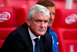 Stoke City manager Mark Hughes - Mandatory by-line: Robbie Stephenson/JMP - 19/08/2017 - FOOTBALL - Bet365 Stadium - Stoke-on-Trent, England - Stoke City v Arsenal - Premier League