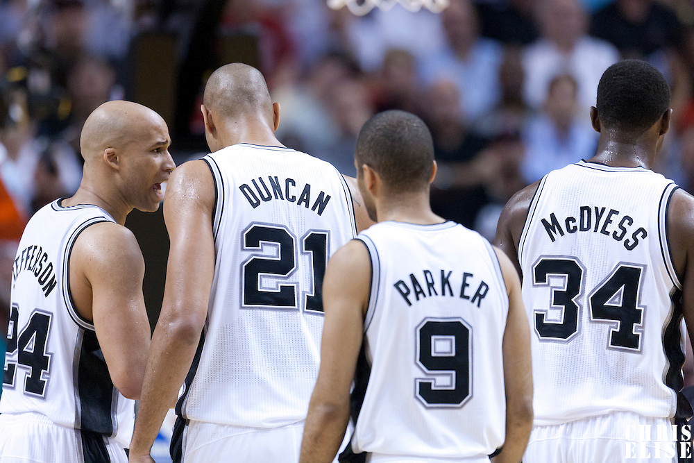 14 March 2011: San Antonio Spurs players are seen during the Miami Heat 110-80 victory over the San Antonio Spurs at the AmericanAirlines Arena, Miami, Florida, USA.
