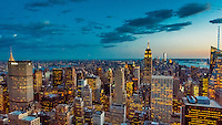 Midtown Manhattan Skyline, New York, New York USA.