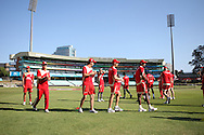 Team warm up during the Royal Challengers Bangalore training session held at Kingsmead Stadium in Durban on the 23 September 2010..Photo by: Steve Haag/SPORTZPICS/CLT20.