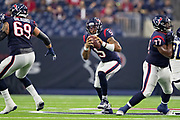 HOUSTON, TX - AUGUST 29:  Joe Webb III #5 of the Houston Texans runs the ball during a game against the Los Angeles Rams during week four of the preseason at NRG Stadium on August 29, 2019 in Houston, Texas. The Rams defeated the Texans 22-10.   (Photo by Wesley Hitt/Getty Images) *** Local Caption *** Joe Webb III