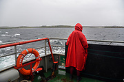 The small ferry for Inishbofin island.