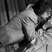 """Bob's wife comforts him in the hospital as his health continues to decline. He died soon after. ..ltqmb   """"saying goodbye"""""""