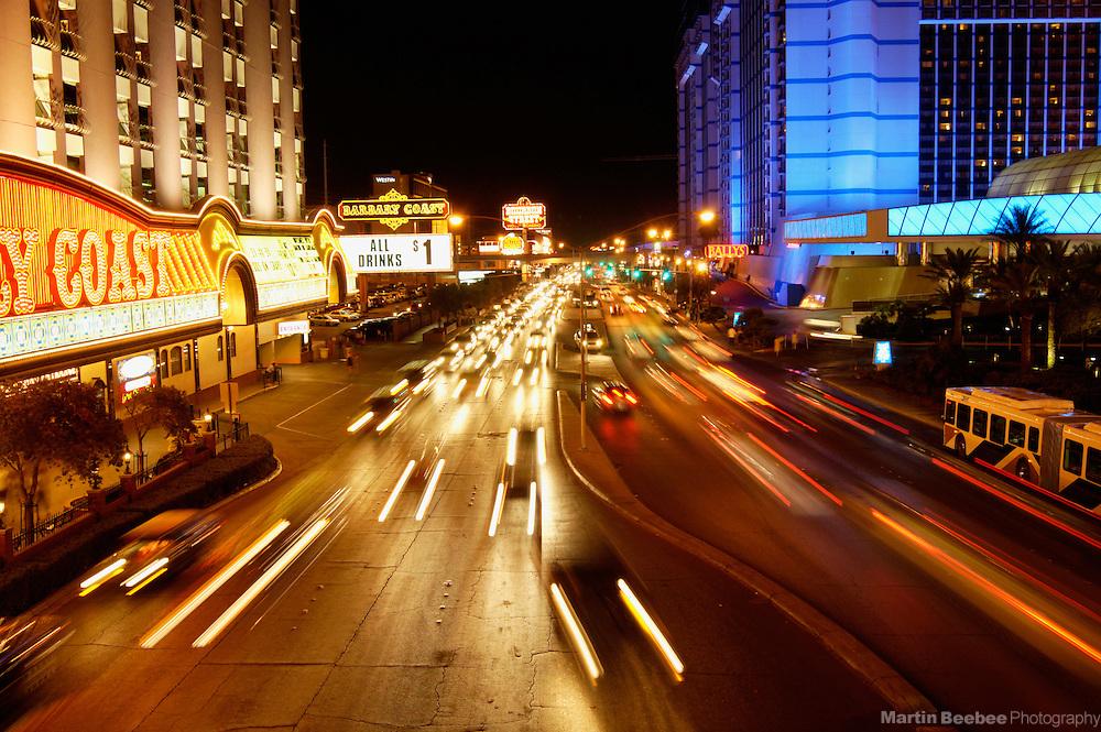 The Las Vegas Strip at night, Las Vegas, Nevada