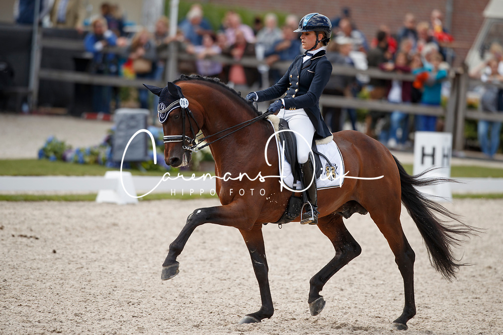 Pauluis Larissa, BEL, Barroso<br /> Longines FEI/WBFSH World Breeding Dressage Championships for Young Horses - Ermelo 2017<br /> &copy; Hippo Foto - Dirk Caremans<br /> 03/08/2017