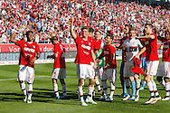 The players  of Bayern Munich celebrate winning the Bundesliga title at Audi Sportpark, Ingolstadt<br /> Picture by EXPA Pictures/Focus Images Ltd 07814482222<br /> 07/05/2016<br /> ***UK &amp; IRELAND ONLY***<br /> EXPA-EIB-160507-0058.jpg