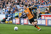 Hull City defender Andrew Robertson (26)   during the Sky Bet Championship match between Huddersfield Town and Hull City at the John Smiths Stadium, Huddersfield, England on 9 April 2016. Photo by Simon Davies.