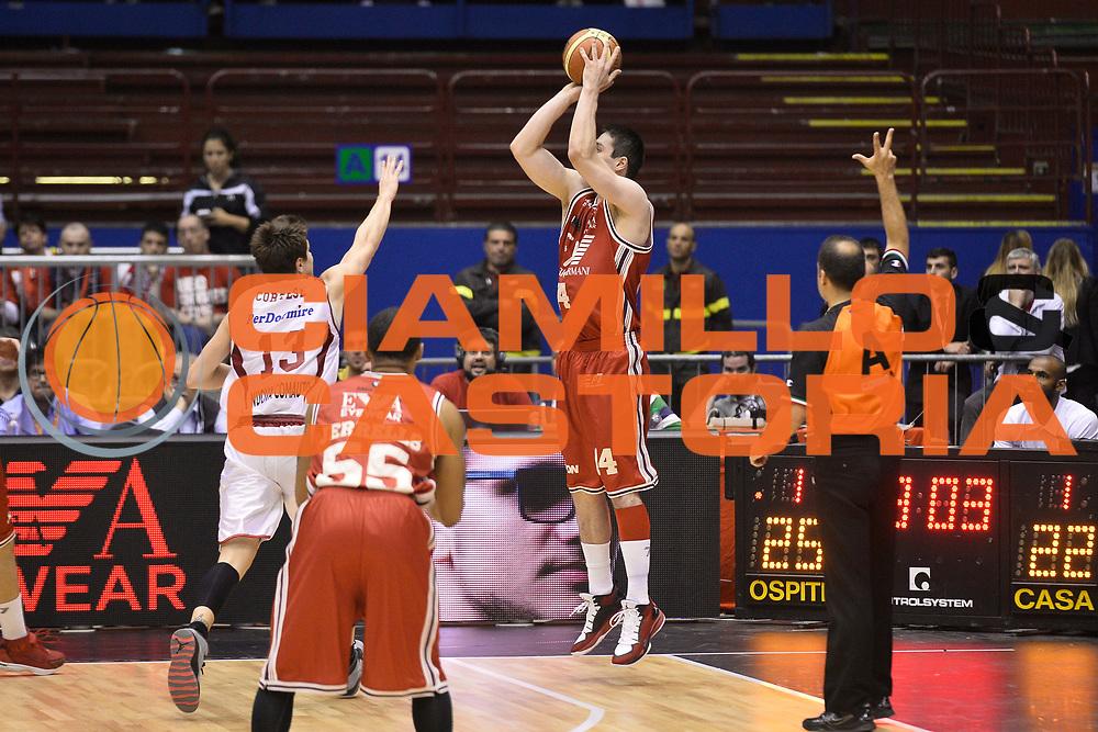 DESCRIZIONE : Campionato 2013/14 Quarti di Finale GARA 2 Olimpia EA7 Emporio Armani Milano - Giorgio Tesi Group Pistoia<br /> GIOCATORE : Kristjan Kangur<br /> CATEGORIA : Tiro Tre Punti Controcampo<br /> SQUADRA : Olimpia EA7 Emporio Armani Milano<br /> EVENTO : LegaBasket Serie A Beko Playoff 2013/2014<br /> GARA : Olimpia EA7 Emporio Armani Milano - Giorgio Tesi Group Pistoia<br /> DATA : 21/05/2014<br /> SPORT : Pallacanestro <br /> AUTORE : Agenzia Ciamillo-Castoria / GiulioCiamillo<br /> Galleria : LegaBasket Serie A Beko Playoff 2013/2014<br /> Fotonotizia : Campionato 2013/14 Quarti di Finale GARA 2 Olimpia EA7 Emporio Armani Milano - Giorgio Tesi Group Pistoia<br /> Predefinita :