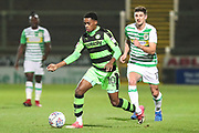 Forest Green Rovers Reece Brown(10) during the EFL Trophy 3rd round match between Yeovil Town and Forest Green Rovers at Huish Park, Yeovil, England on 9 January 2018. Photo by Shane Healey.