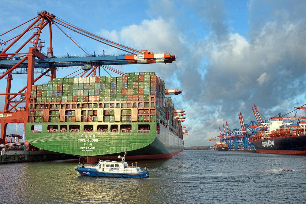 CSCL Globe, das aktuell größte Containerschiff der Welt