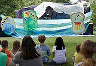 Hamptonburgh, New York - Children watch a performance by the Arm-of-the-Sea Theater  at the fourth annual Earth & Water Festival at Thomas Bull Memorial Park on June 4, 2011. ©Tom Bushey / The Image Works