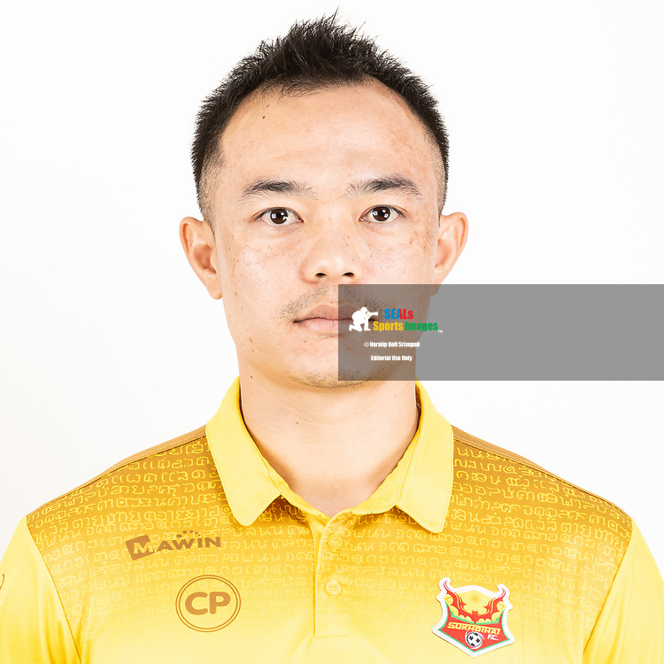 THAILAND - JUNE 29: Khapfa Boonmatoon #24 of Sukhothai FC on June 29, 2019.<br /> .<br /> .<br /> .<br /> (Photo by: Naratip Golf Srisupab/SEALs Sports Images/MB Media Solutions)