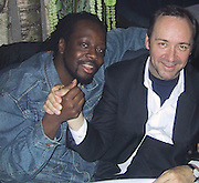 Wyclef Jean & Kevin Spacey.Butter Restaurant.New York, NY.Thursday, April 18, 2003.Photo By Celebrityvibe.com/Photovibe.com..