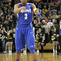 Memphis guard Chris Crawford (3) during a Conference USA NCAA basketball game between the Memphis Tigers and the Central Florida Knights at the UCF Arena on February 9, 2011 in Orlando, Florida. Memphis won the game 63-62. (AP Photo: Alex Menendez)