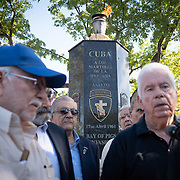 MIAMI, FLORIDA, APRIL 17, 2018<br /> Veterans, members of the 2506 Brigade, commemorate  the 57th anniversary of the failed assault on Bay of Pigs  at their memorial in Little Havana by reading names of the ones who died in the operation.<br /> (Photo by Angel Valentin/Freelance)