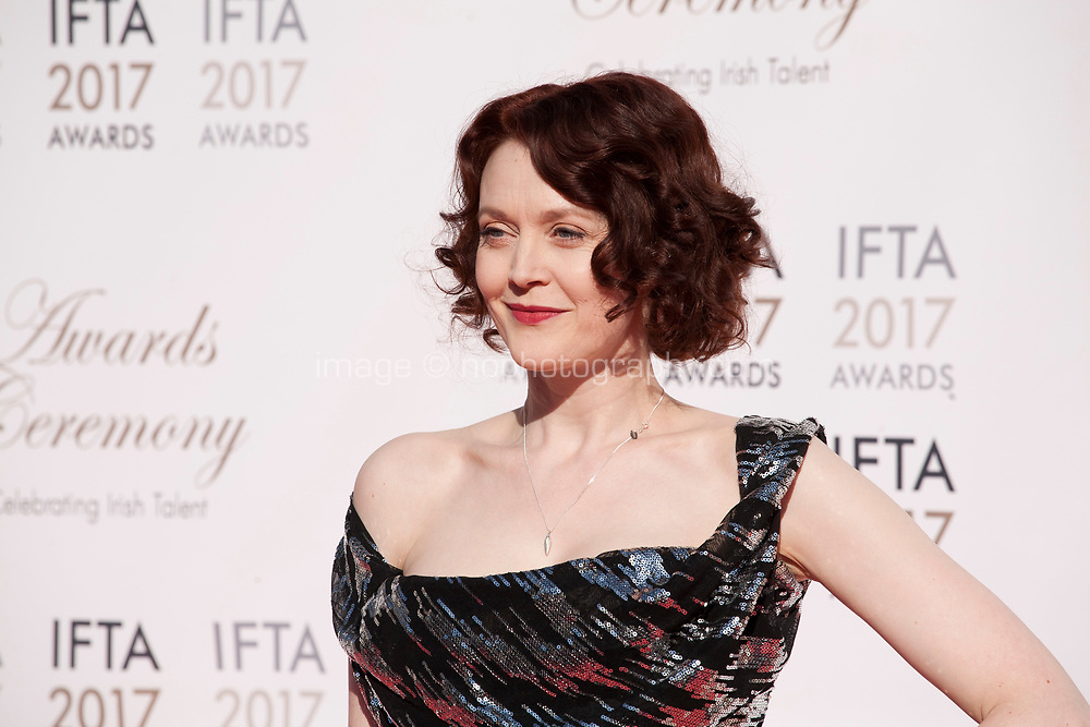 Simone Kirby at the 2017 IFTA Film & Drama Awards at the Round Room of the Mansion House, Dublin,  Ireland Saturday 8th April 2017.