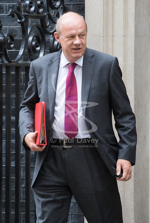 Downing Street, London, September 9th 2016.  Work and Pensions Secretary Damian Green leaves 10 Downing Street following the weekly cabinet meeting.