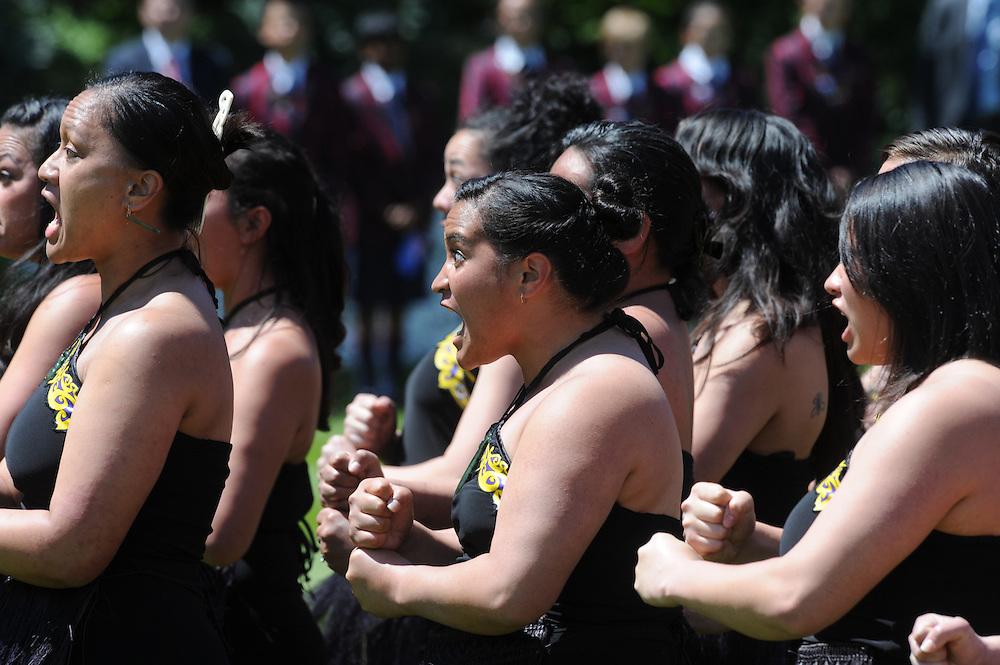 Maori challenge, Government House, Wellington, New Zealand, Wednesday, November 14, 2012. Credit:SNPA / Ross Setford