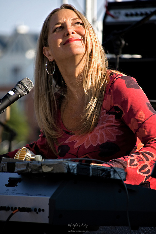 A Killer on the Keys Honey, of the group Rod Piazza & the Mighty Flyers, entertains the crowd at the 2010 Wilminton Riverfront Blues Festival.