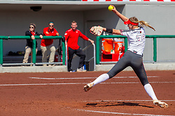 NORMAL, IL - April 06: Mack Leonard during a college women's softball game between the ISU Redbirds and the University of Northern Iowa Panthers on April 06 2019 at Marian Kneer Field in Normal, IL. (Photo by Alan Look)