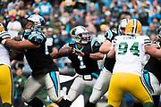 December 17, 2017: Carolina Panthers vs the Greenbay Packers. Cam Newton