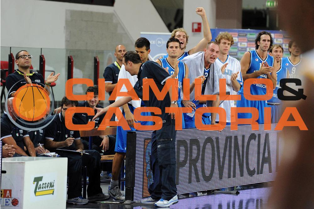 DESCRIZIONE : Rimini Trofeo Tassoni Italia Bosnia Italy Bosnia<br /> GIOCATORE : Team Italia Simone Pianigiani<br /> CATEGORIA : Esultanza<br /> SQUADRA : Nazionale Italia Uomini <br /> EVENTO : Trofeo Tassoni<br /> GARA : Italia Bosnia<br /> DATA : 12/08/2011<br /> SPORT : Pallacanestro<br /> AUTORE : Agenzia Ciamillo-Castoria/GiulioCiamillo<br /> Galleria : Fip Nazionali 2011 <br /> Fotonotizia : Rimini Trofeo Tassoni Italia Bosnia Italy Bosnia<br /> Predefinita :