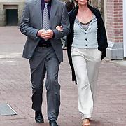 NLD/Amsterdam/20110722 - Afscheidsdienst voor John Kraaijkamp, Haye van der Heijden en partner Veronique van der Scheer