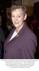 DAME STELLA RIMMINGTON former head of the security services, at a reception in London on 31st January 2002.OXB 75
