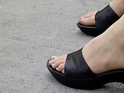 close up of woman feet