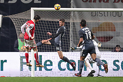 January 13, 2018 - Braga, Braga, Portugal - Braga's Portuguese forward Paulinho (L) score a goal during the Premier League 2017/18 match between SC Braga and SL Benfica, at Municipal de Braga Stadium in Braga on January 13, 2018. (Credit Image: © Dpi/NurPhoto via ZUMA Press)