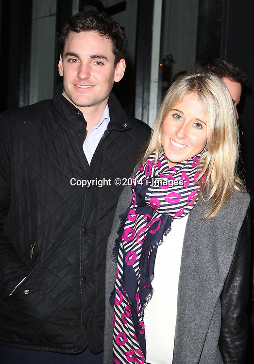 PAUL RAYMOND'S GRAND-DAUGHTER,  PORN HEIRESS, FAWN JAMES AND NICK LAWSON arrives for the opening night for the new musical A-Z Of Mrs P, London, United Kingdom. Monday, 24th February 2014. Picture by i-Images