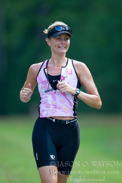 CHARLOTTESVILLE, VA - July 27, 2008 - HEIDI MILLER in The 2008 Charlottesville International Triathlon was held at Walnut Creek Park in Albemarle County near Charlottesville, Virginia, USA.