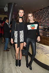Left to right, MATILDA LOWTHER and LADY ALICE MANNERS at a party to celebrate the 10th anniversary of Nobu Berkeley Street held on 5th November 2015.