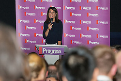 © Licensed to London News Pictures . 27/09/2015 . Brighton , UK . LIZ KENDALL speaks at a Progress Rally fringe event at screen one of the Odeon Cinema on Brighton seafront , during the 2015 Labour Party Conference . Photo credit : Joel Goodman/LNP