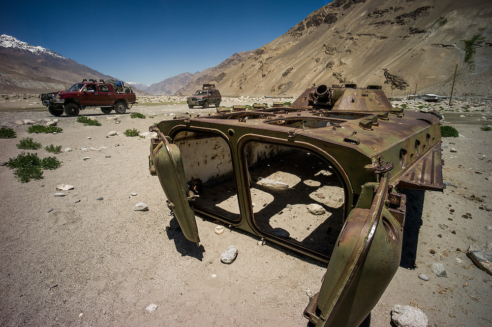 The only weaponry we saw during our time in Afghanistan were these remnants from the Soviet conflict.