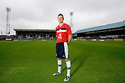 Dundee's central defender Declan Gallagher models the Club's 2012-13 away kit..- © David Young - 5 Foundry Place - Monifieth - DD5 4BB - Telephone 07765 252616 - email; davidyoungphoto@gmail.com