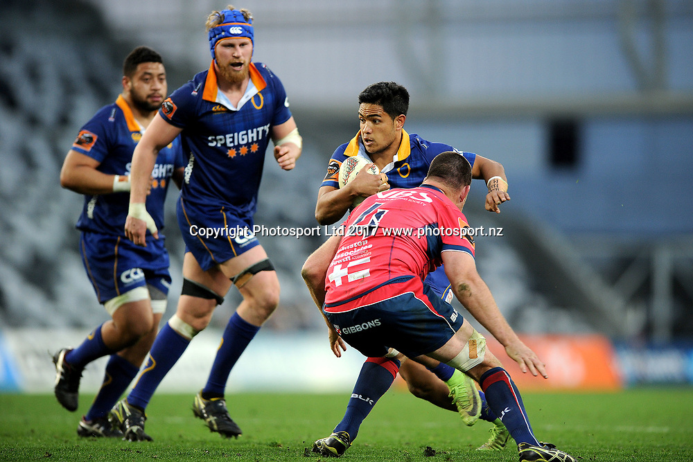 Josh Ioane of Otago. Otago v Tasman. Mitre 10 Cup Championship Rugby Union. Forsyth Barr Stadium, Dunedin, New Zealand. 16 September 2017. Copyright Image: Joe Allison / www.photosport.nz