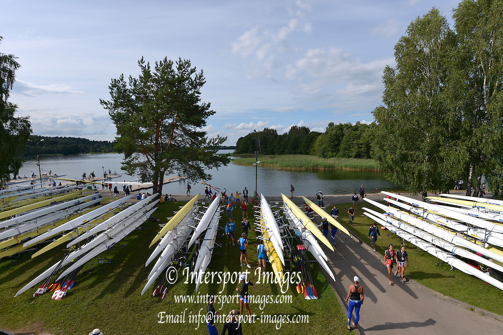 Trackai. LITHUANIA.General views, GV's Boat storage and boating area.  2012 FISA U23 World Rowing Championships,   17:46:28 {dow], {date} [Mandatory Credit: Peter Spurrier/Intersport Images]..Rowing. 2012. U23.