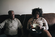 BIRMINGHAM, AL – DECEMBER 4, 2017: Clarence Jacobs (left) tries to clear up his voter eligibility with the help of Birmingham City Councilor Sheila Tyson, representative of District 6. Jacobs, 71, was sentenced to one year probation in the 1990s after pleading guilty to stalking and burglary charges from an ex-wife. Jacobs never served time for his crimes, but has been told he is ineligible to vote on multiple occasions. CREDIT: Bob Miller for The New York Times
