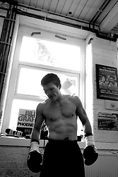 Ricky Hatton trains for his upcoming fight with Jose Luis Castillo at the Beta Bodies Gym in Manchester, England, 25th May 2007. ....* Contact Cleva Sales before downloading to agree usage.