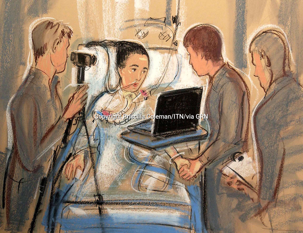 Copyright Priscilla Coleman ITV Artist 24.05.05.Abigail Witchells meets detectives wanting her to view images of suspects gathered. She was stabbed whilst walking her young son in Little Bookham, Surrey this year.