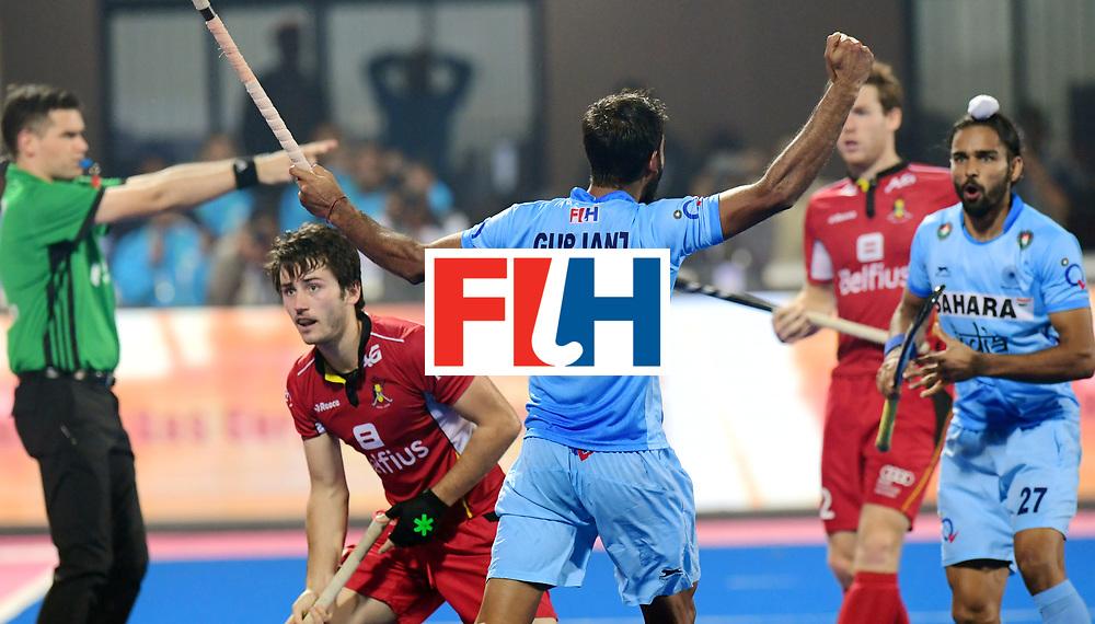 Odisha Men's Hockey World League Final Bhubaneswar 2017<br /> Match id:13<br /> Belgium v India<br /> Foto: Gurjant Singh (Ind) scored a goal<br /> COPYRIGHT WORLDSPORTPICS FRANK UIJLENBROEK