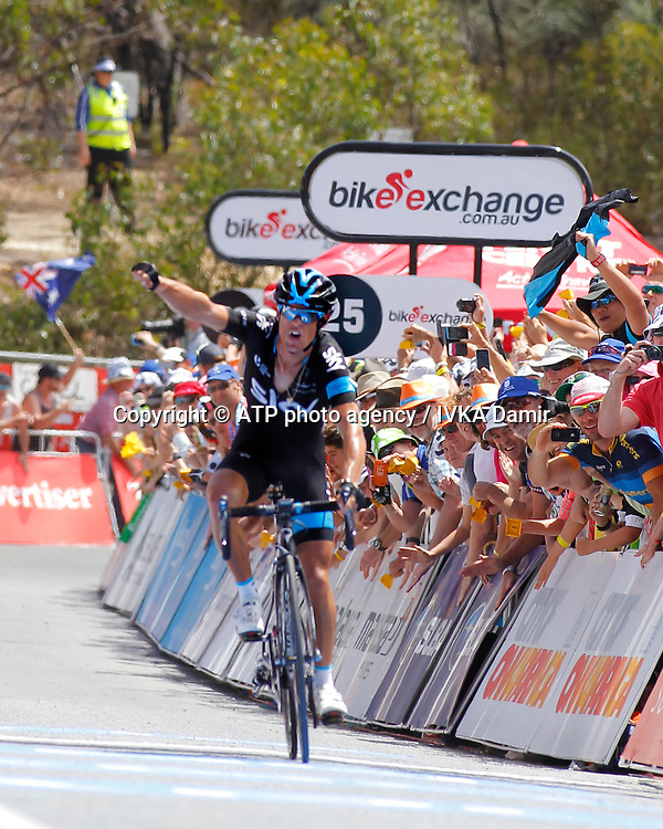 2015 Santos Tour Down Under. Adelaide. Australia. 24.1.2015. Stage  5. Mc Laren Vale to Willunga Hill.151.5km<br /> #3 Richie PORTE (AUS) Team SKY (GBR) wins the stage.<br /> - Tour Down Under Australia 2015, Cycling, road race, Radrennen, Australien -  Radsport - Rad Rennen <br /> - fee liable image: copyright &copy; ATP - IVKA Damir